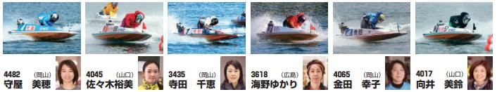 第64回 G1.中国地区選手 ヴィーナスバトル枠順