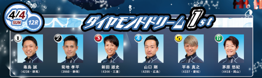 初日(4/4)12R ダイヤモンドドリーム 1st