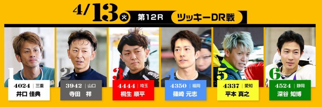 初日(4/13)12R ツッキードリーム戦
