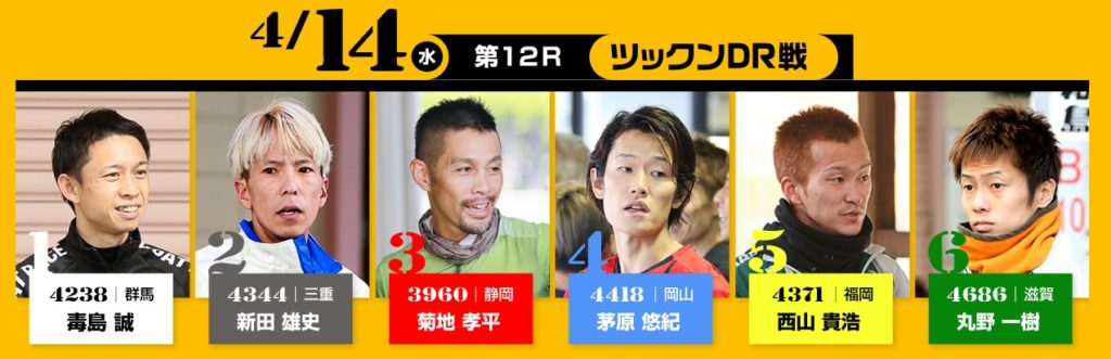 2日目(4/14)12R ツックンドリーム戦